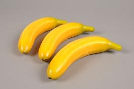 x028bc Boîte de 6 bananes artficicielles H18cm