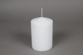 A045E2 Boîte de 6bougies cylindre blanche D10 H20cm