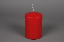 A044E2 Boîte de 6bougies cylindre rouge D10 H15cm