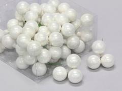 X200X4 Boîte de 72 boules en verre blanc brillant D30mm