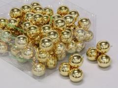 X194X4 Boîte de 72 boules en verre or brillant D30mm