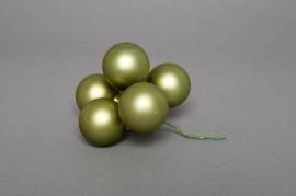 X110SC Boîte de 72 boules vert mat D30mm