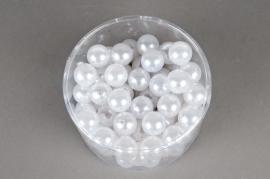 Boîte de 72 perles blanc 20mm 300gr