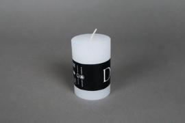 A068E2 Boîte de 8 bougies rustique blanc D6cm H9cm