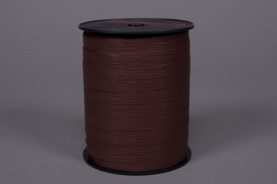 A126ZR Bolduc mat chocolat 10mm x 250m
