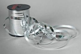 X034ZR Bolduc métal brillant argent 10mm x 250m