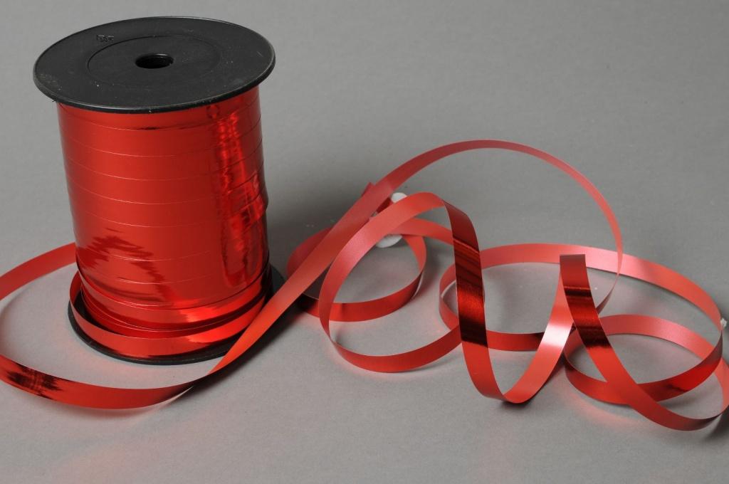 X143ZR Bolduc métal brillant rouge 10mm x 250m