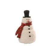 X005W2 Bonhomme de neige avec chapeaux et écharpe H30cm