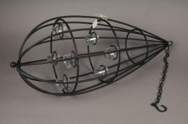 A501DQ Bougeoir en métal noir D31cm H75cm