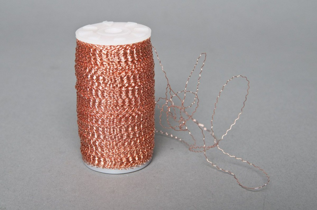 Bouillon wire roll copper 0,3mm 200gr