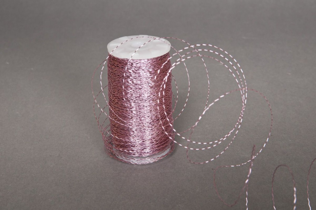 Bouillon wire roll pink 0,3mm 200gr