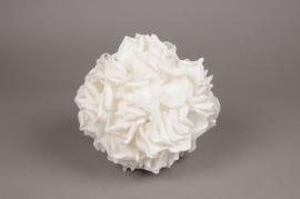 x051dh Boule de pétale de rose blanche D23cm