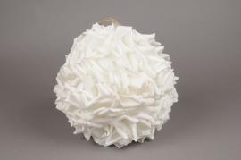 x052dh Boule de pétale de rose blanche D28cm