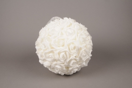 x001id White artificial roses ball D28cm