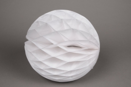 A819GM Boule en papier à suspendre blanc D25cm