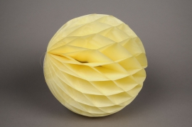 A045GM Boule en papier à suspendre jaune D30cm