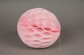A820GM Boule en papier à suspendre rose D25cm