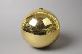 X004ZY Boule en plastique brillant or D20cm