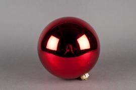 Boule en plastique rouge D20cm
