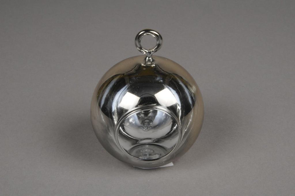 A010K9 Boule en verre or à suspendre D10cm