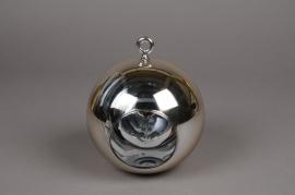 A009K9 Boule en verre or à suspendre D15cm