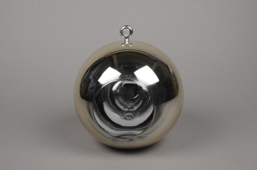 A008K9 Boule en verre or à suspendre D20cm