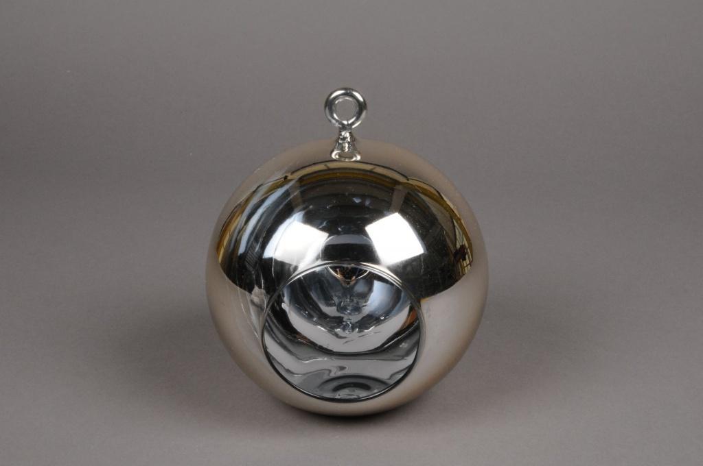 A011K9 Boule en verre or à suspendre D8cm