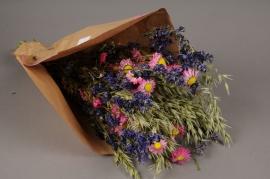 x022kh Bouquet de fleurs séchées H55cm
