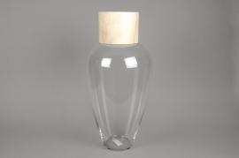 A008PW Bouteille en verre avec bouchon D25cm H50cm