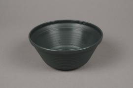 A016H7 Bowl plastic dark green D18cm H8cm