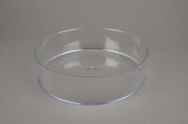 A004X9 Bowl round plexi crystal D25cm H6,5cm