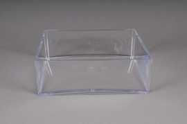 Bowl square plexi crystal 20x20 H6,5cm