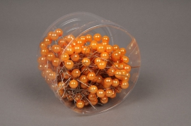 a103mg Box of 250 orange beads on pin 10x60mm
