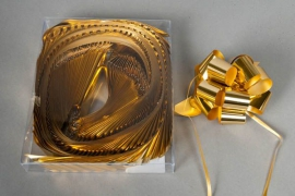 X013ZR Box of 30 automatic knots gold D30mm