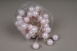 A131MG Box of 50 pink beads on pin 20x90mm