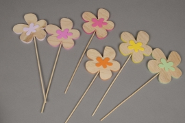 A422F5 Box of 6 assorted flower picks