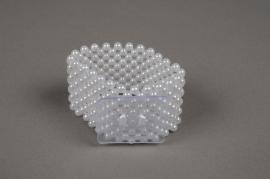 A340MG Bracelet de mariée en perle blanche