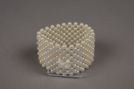 A341MG Bracelet de mariée en perle champagne