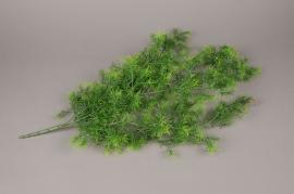 x073ee Branch of artficial green fenr H75cm