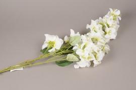 x412mi Branch of artificial white bougainvillea H100cm