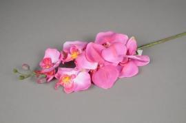 x294fp Branche de phalaenopsis artificielle fuchsia H70cm