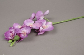 x047lp Branche de phalaenopsis artificielle magenta H51cm