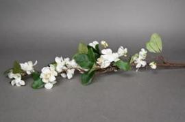 x324wh Branche de pommier artificiel blanc H100cm