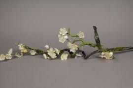 a827lp Branche de prunier artificielle crème H103cm