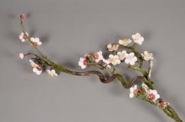 a828lp Branche de prunier artificielle rose H103cm