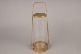 A006S0 Brass gold metal lantern D16cm H43cm