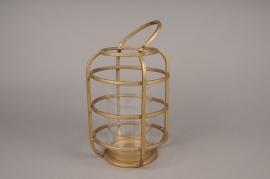 A016S0 Brass gold metal lantern D19cm H25.5cm