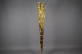 X018J7 Bright bouquet gold white warm H132cm