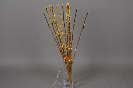 X016J7 Bright bouquet gold white warm H72cm