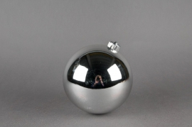 Bright plastic ball rsilver D15cm